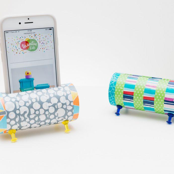 Parlantes para el móvil con tubos de cartón