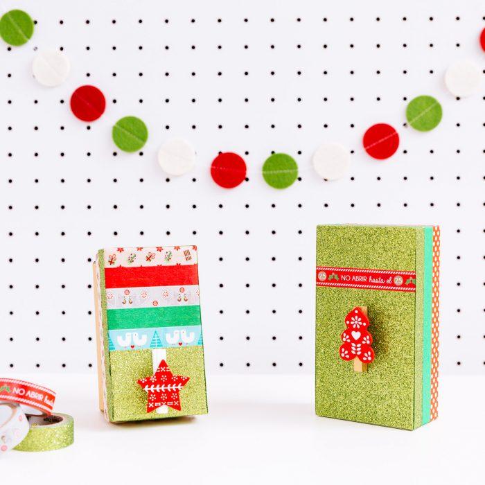 Cajitas recicladas para regalos navideños